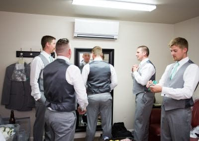 Our Grooms room is perfect to get dressed and ready for the I Do's